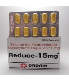 Reduce  (Sibutramine Hydrochloride Monohydrate) ORDAIN, 100tabs / 15mg