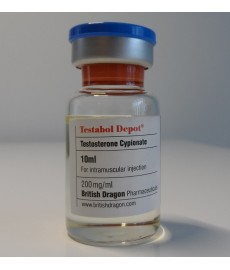Testabol Depot (Testosterone Cypionate) British Dragon, 200 mg / ml, 10 ml