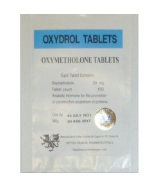 Oxydrol (Oxymetholone) British Dragon, 100 tabs / 50 mg